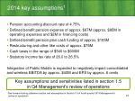 2014 key assumptions 1