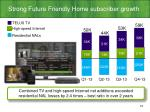 strong future friendly home subscriber growth