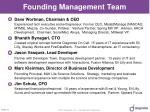founding management team