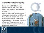 investor account services ias