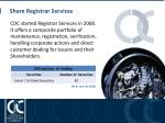 share registrar services