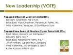 new leadership vote