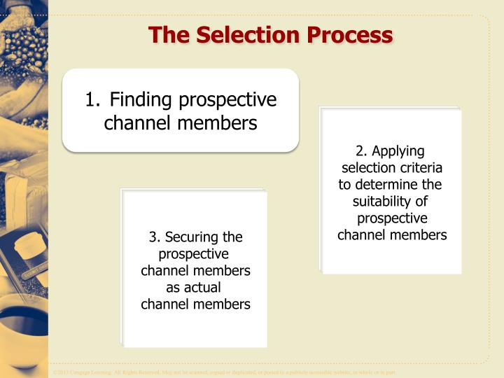 ppt selecting the channel members powerpoint presentation id 1667741