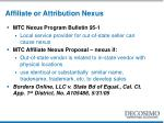 affiliate or attribution nexus