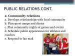public relations cont