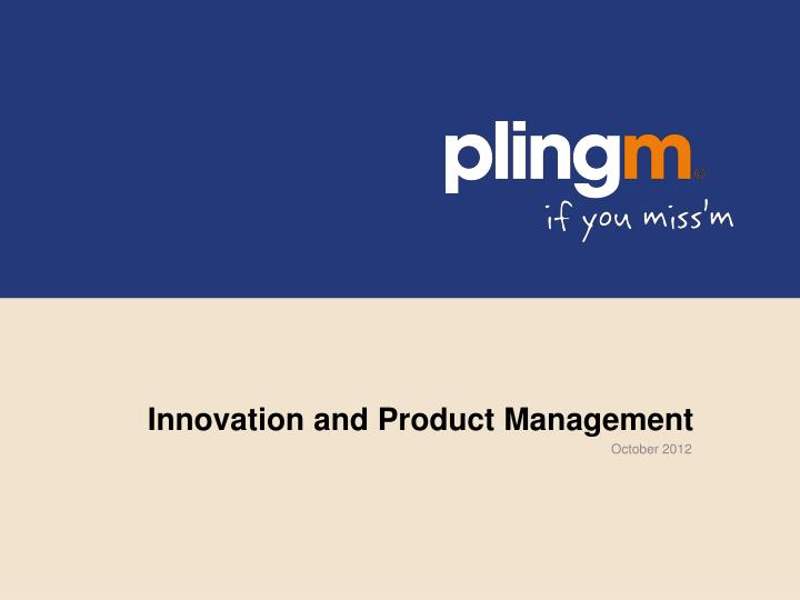 innovation and product management n.