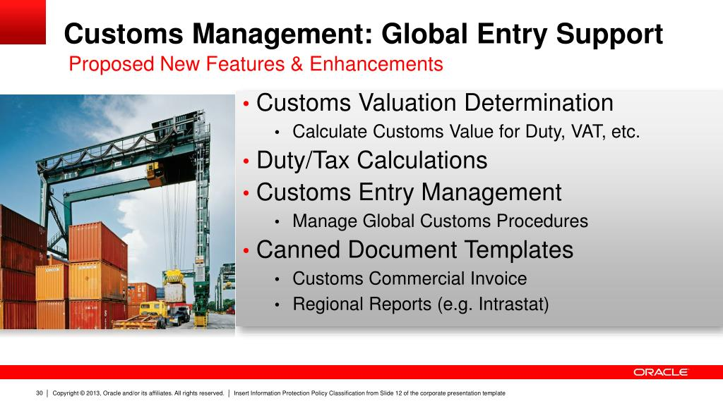 PPT - Oracle Global Trade Management: Strategy, Update