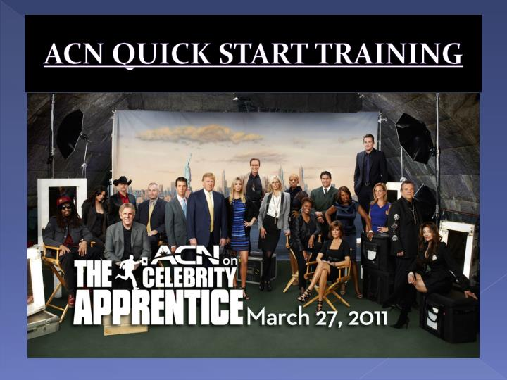 acn quick start training n.