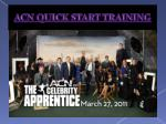 acn quick start training1