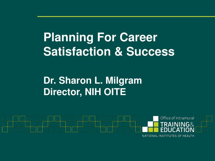 planning for career satisfaction success n.