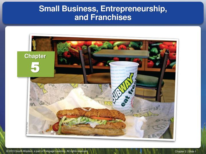 small business entrepreneurship and franchises n.