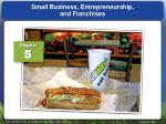 small business entrepreneurship and franchises