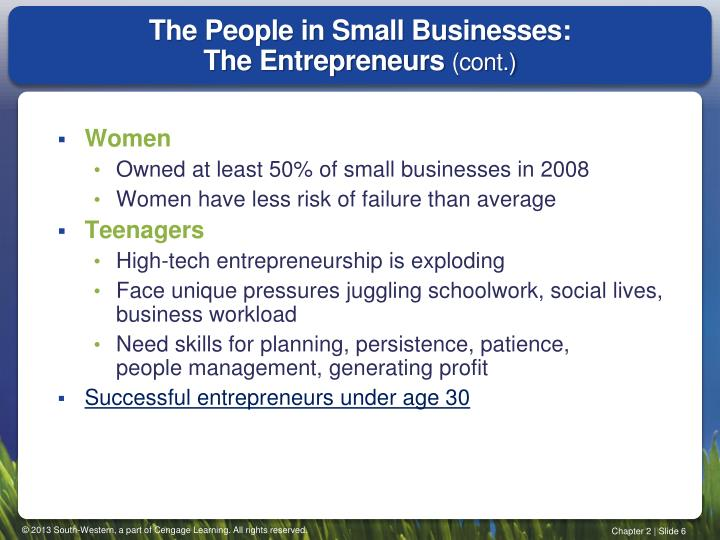 The People in Small Businesses: