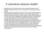 e commerce revenue models