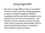 using sugarcrm