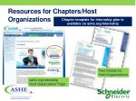 resources for chapters host organizations