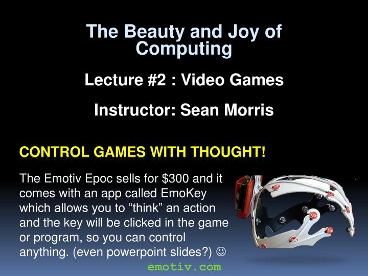 control games with thought n.