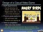 design of a casual video game