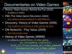 documentaries on video games