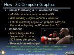 how 3d computer graphics