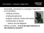 conversion change in legal form
