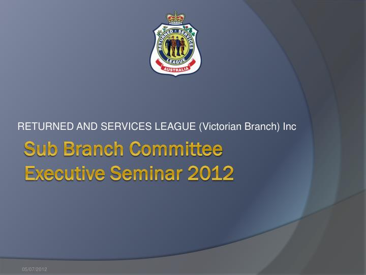 returned and services league victorian branch inc n.