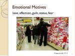 emotional motives
