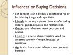 influences on buying decisions1