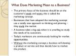 what does marketing mean to a business