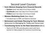 second level courses