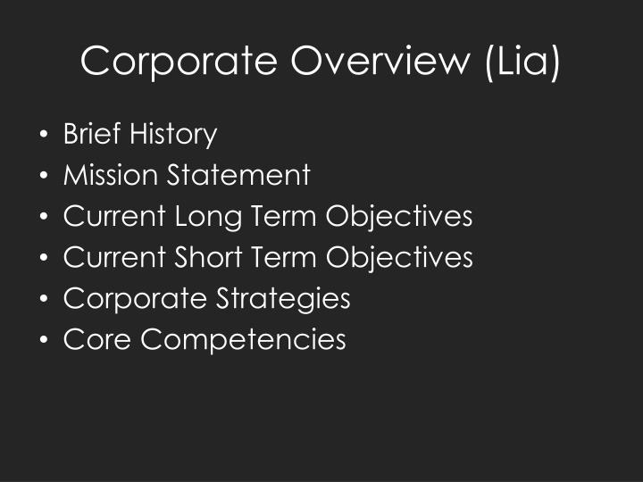 Corporate overview lia