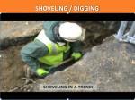 shoveling digging