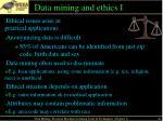 data mining and ethics i