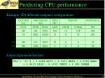 predicting cpu performance