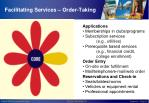 facilitating services order taking