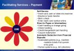 facilitating services payment