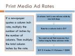 print media ad rates1