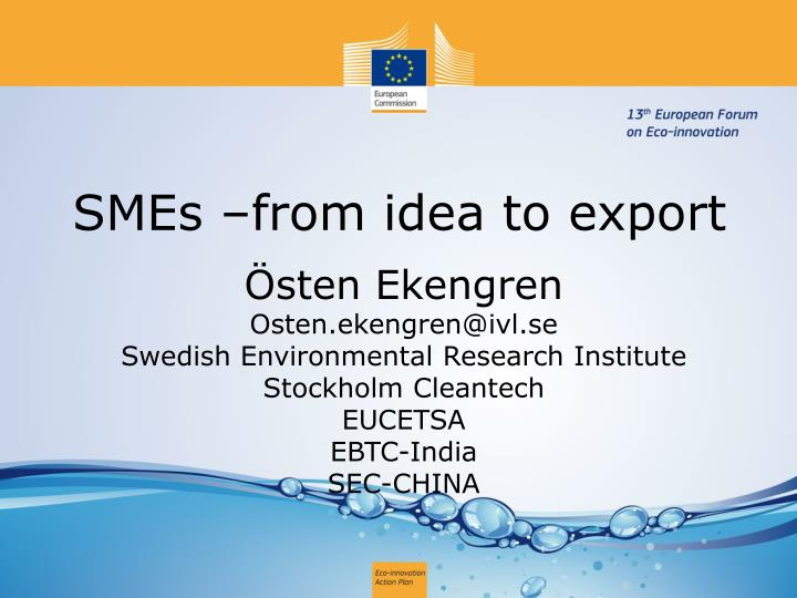 smes from idea to export n.
