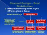 channel design dual distribution