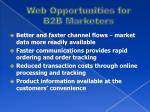 web opportunities for b2b marketers