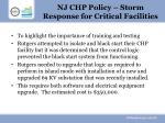 nj chp policy storm response for critical facilities