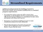 streamlined requirements