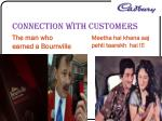 connection with customers