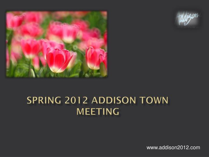 spring 2012 addison town meeting n.