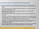 starting and customizing outlook