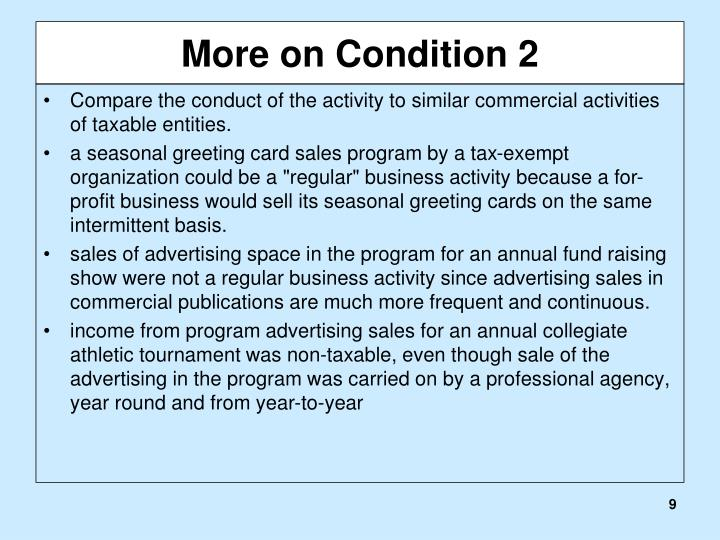 More on Condition 2