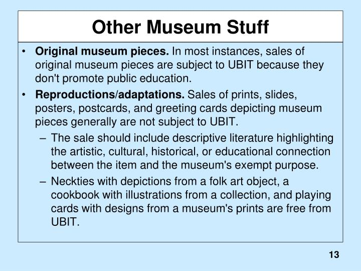 Other Museum Stuff