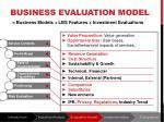 business evaluation model