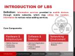 introduction of lbs