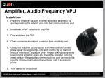 amplifier audio frequency vpu
